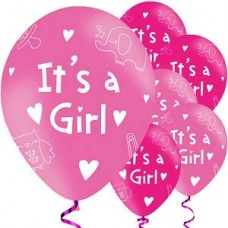 it's a girl balloons - pack of 6