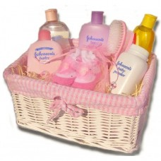 Baby Bathtime Hamper with Johnson's