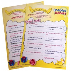 Remember That Nursery Rhyme Baby Shower Game (pack of 8)