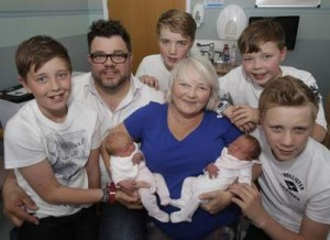 Mother has three sets of twins